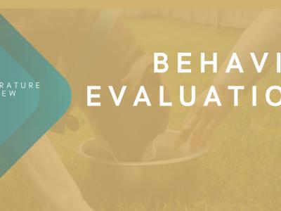 Behavior Evaluations (1)